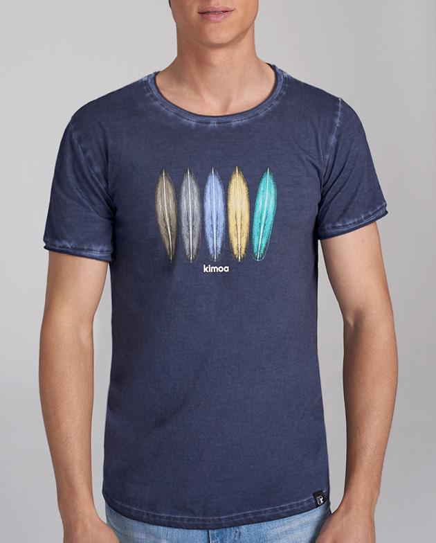 Rainbow surfer blue tee | KIMOA