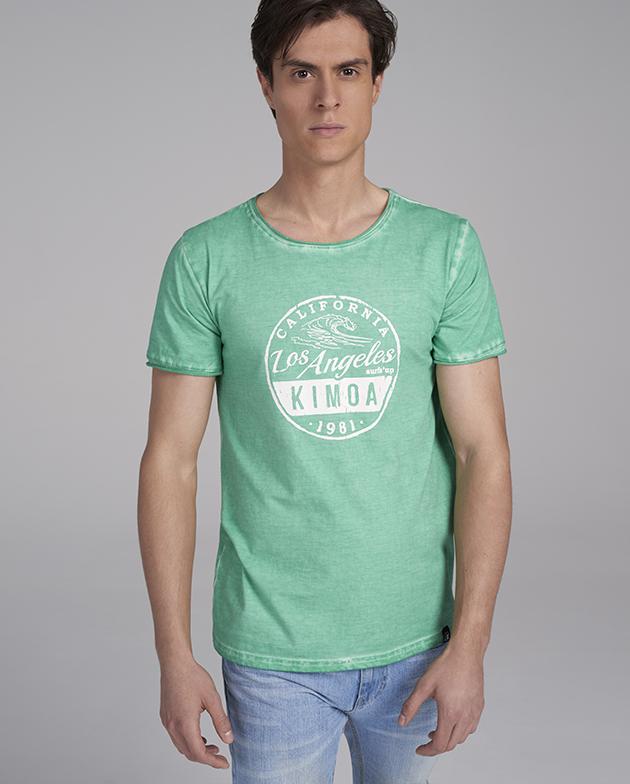 LA I'm coming green Tee | KIMOA